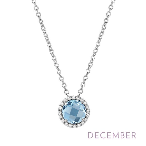 Silver Birthstone Necklace | December David Douglas Diamonds & Jewelry Marietta, GA