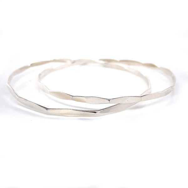Silver Interlinked Bangles | Medium David Douglas Diamonds & Jewelry Marietta, GA