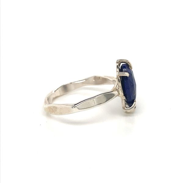 Sterling Silver Hammer Finish Lapis Ring Image 3 David Douglas Diamonds & Jewelry Marietta, GA