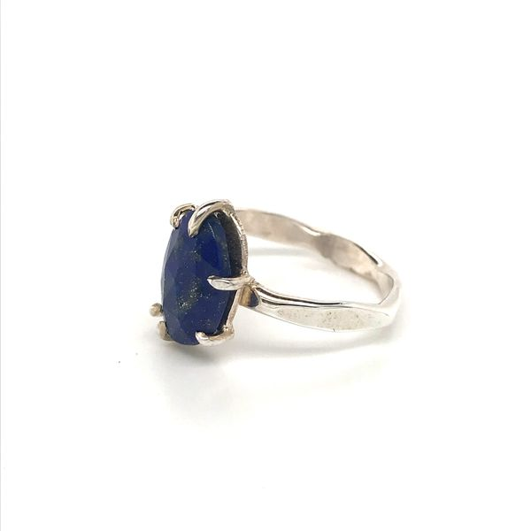 Sterling Silver Hammer Finish Lapis Ring Image 5 David Douglas Diamonds & Jewelry Marietta, GA