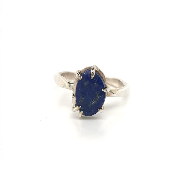 Sterling Silver Hammer Finish Lapis Ring David Douglas Diamonds & Jewelry Marietta, GA
