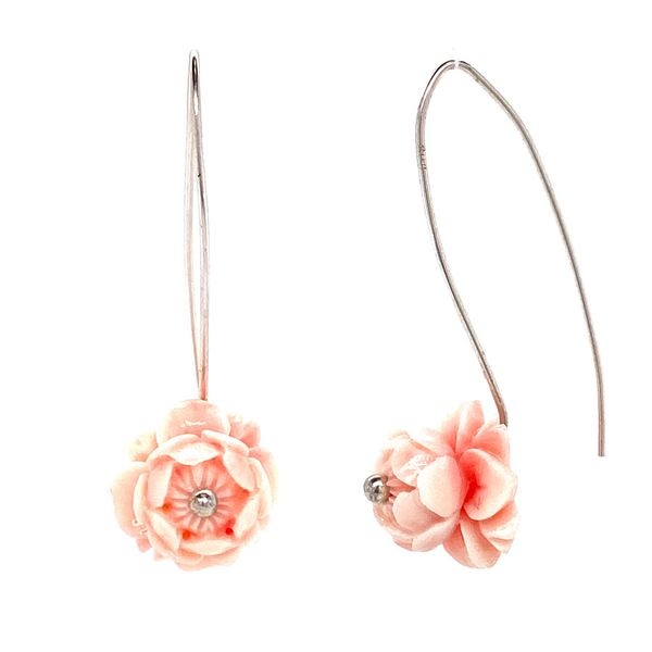Silver Flower Earrings David Douglas Diamonds & Jewelry Marietta, GA