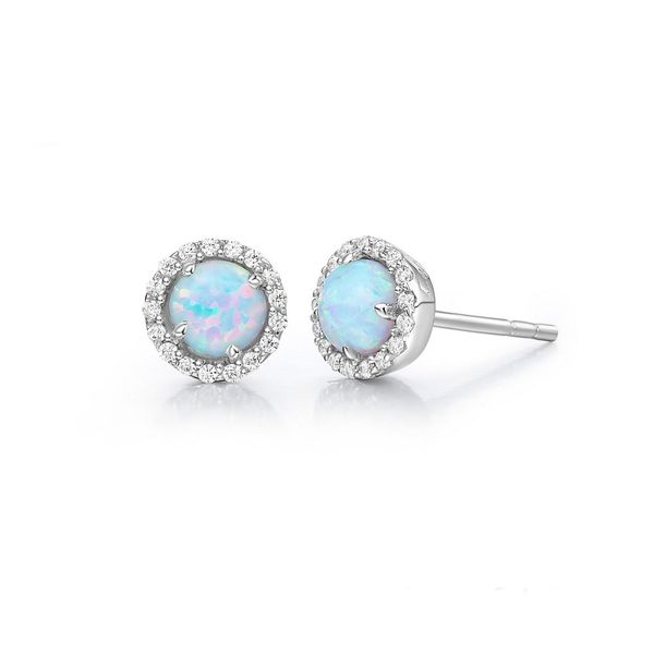 Silver Birthstone Earrings | October David Douglas Diamonds & Jewelry Marietta, GA