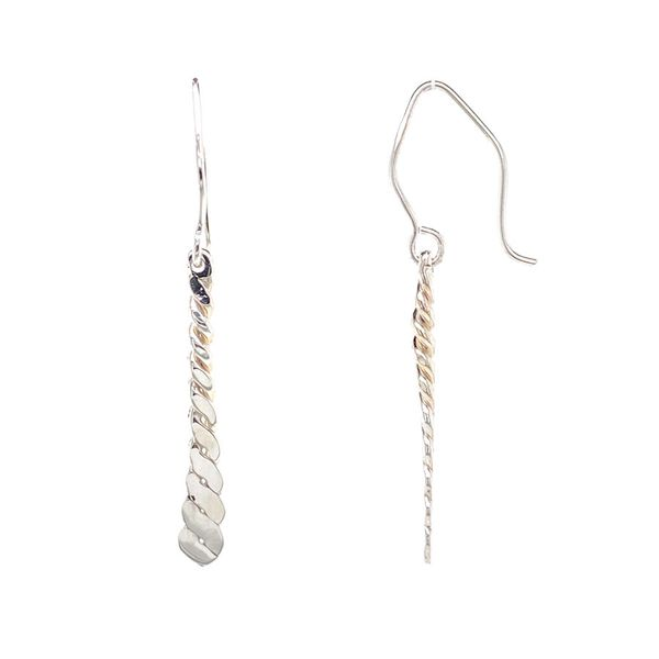 Silver Rope Drop Earrings Image 2 David Douglas Diamonds & Jewelry Marietta, GA