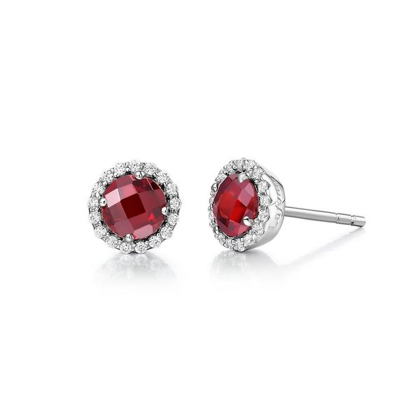Silver Birthstone Earrings | January David Douglas Diamonds & Jewelry Marietta, GA