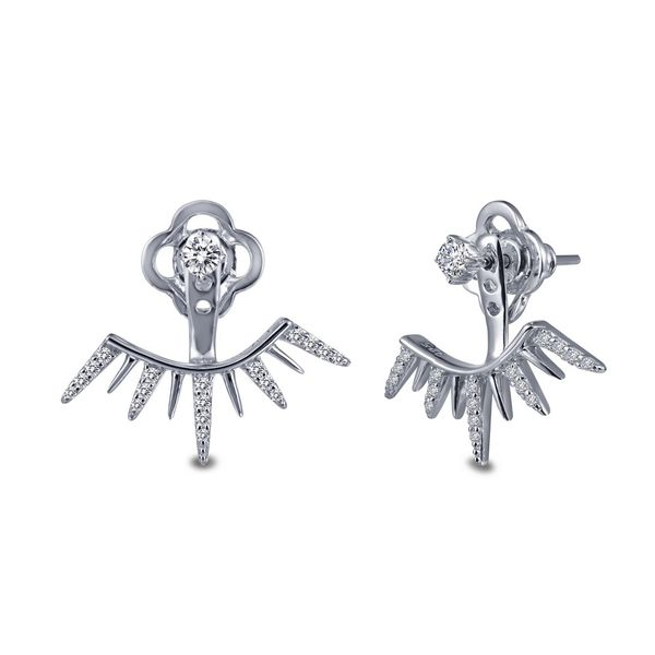 Silver Ear Climber Jacket Earrings David Douglas Diamonds & Jewelry Marietta, GA