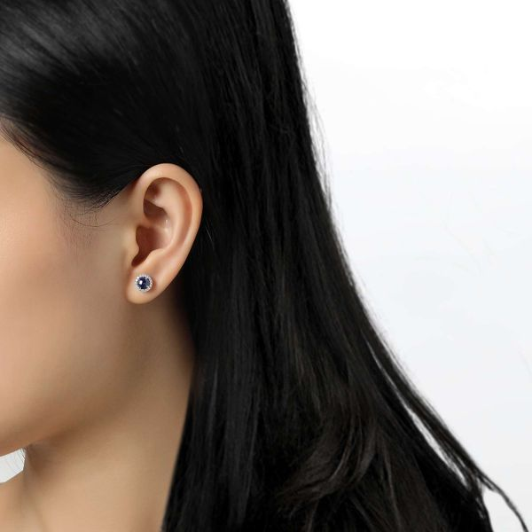 Silver Birthstone Earrings | September David Douglas Diamonds & Jewelry Marietta, GA