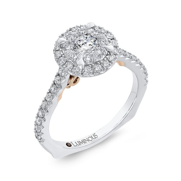 Luminous White Gold Round Halo Engagement Ring Image 2 David Scott Fine Jewelry Panama City Beach, FL