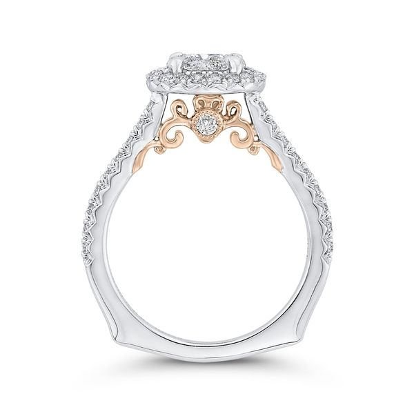 Luminous White Gold Round Halo Engagement Ring Image 4 David Scott Fine Jewelry Panama City Beach, FL