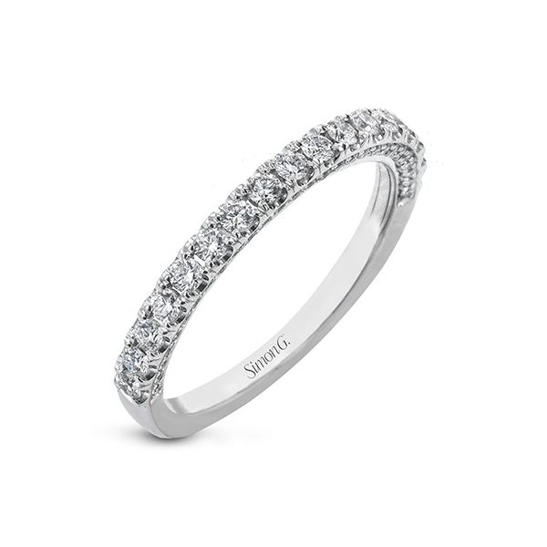 Simon G White Gold Straight Diamond Wedding Band David Scott Fine Jewelry Panama City Beach, FL