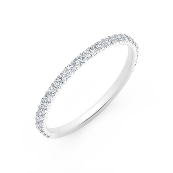 Forevermark Platinum French Pave Diamond Band Image 2 David Scott Fine Jewelry Panama City Beach, FL