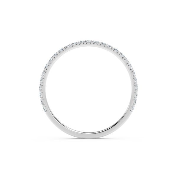 Forevermark Platinum French Pave Diamond Band Image 3 David Scott Fine Jewelry Panama City Beach, FL