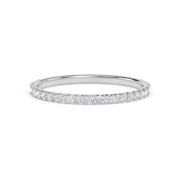 Forevermark Platinum French Pave Diamond Band David Scott Fine Jewelry Panama City Beach, FL