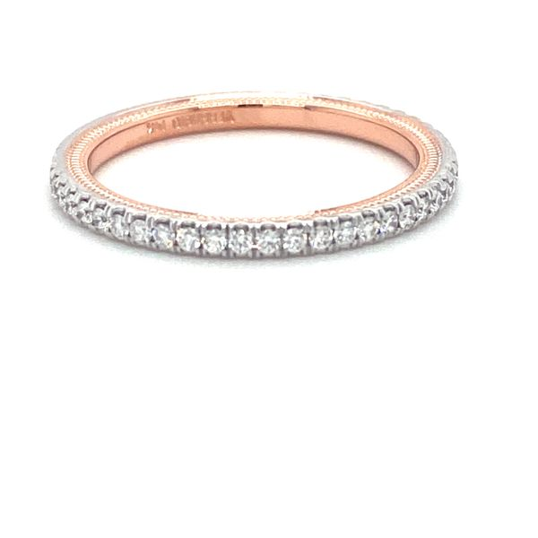 Verragio Tradition Collection White And Rose Gold Diamond Wedding Band David Scott Fine Jewelry Panama City Beach, FL