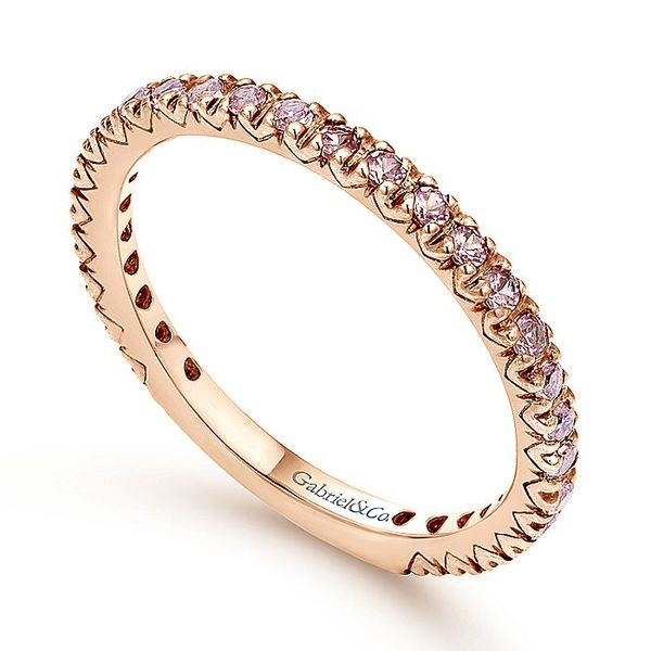 Gabriel & Co Rose Gold Pink Pink Sapphire Stackable Ring Image 3 David Scott Fine Jewelry Panama City Beach, FL