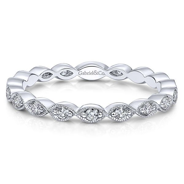 e6671852a6663 Gabriel & Co. White Gold & Diamond Stackable Ring