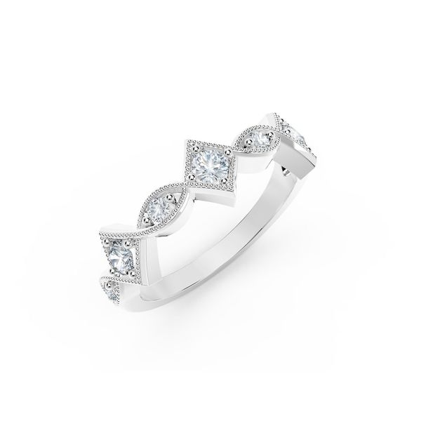 Forevermark Tribute Collection Detailed Diamond Ring Image 2  ,