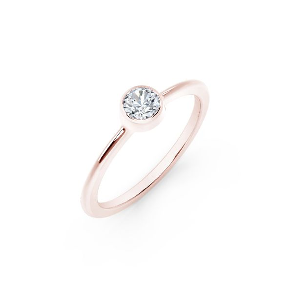 Forevermark Tribute Collection Classic Bezel Stackable Ring Image 2 David Scott Fine Jewelry Panama City Beach, FL