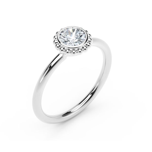 Forevermark Tribute Collection Beaded Diamond Ring Image 2  ,