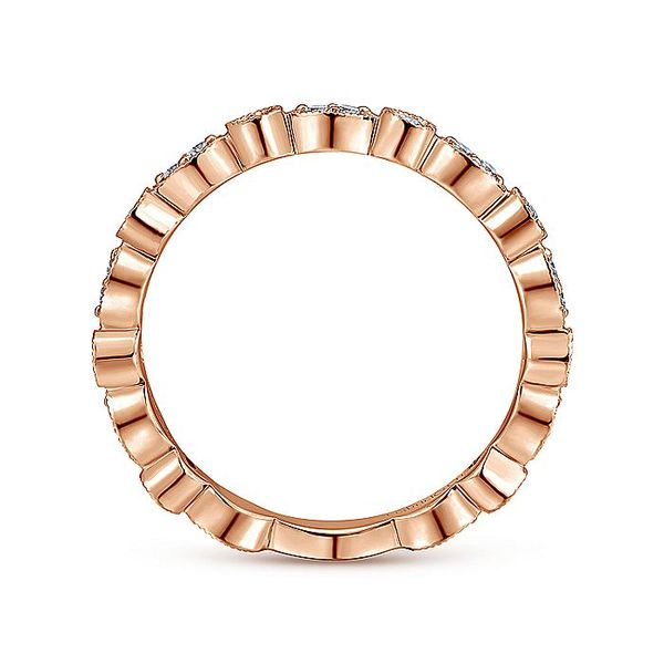 Gabriel & Co. Rose Gold Stackable Ring Image 2 David Scott Fine Jewelry Panama City Beach, FL