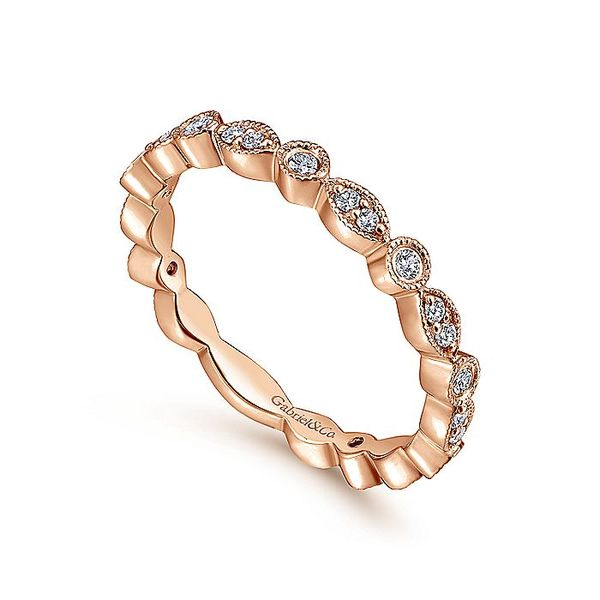 Gabriel & Co. Rose Gold Stackable Ring Image 3 David Scott Fine Jewelry Panama City Beach, FL