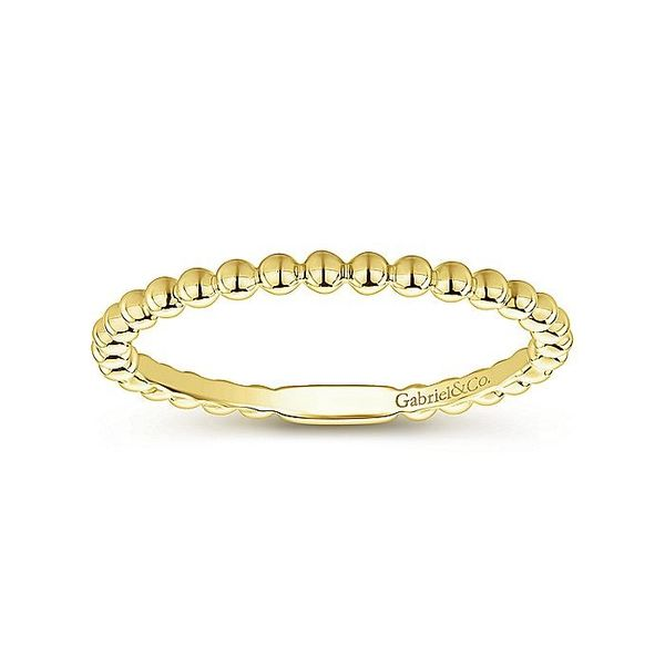 Gabriel & Co Yellow Gold Bujukan Beaded Band Image 4 David Scott Fine Jewelry Panama City Beach, FL