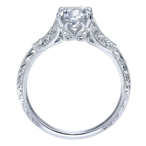 Amavida White Gold Split Shank Engagement Ring Image 2 David Scott Fine Jewelry Panama City Beach, FL