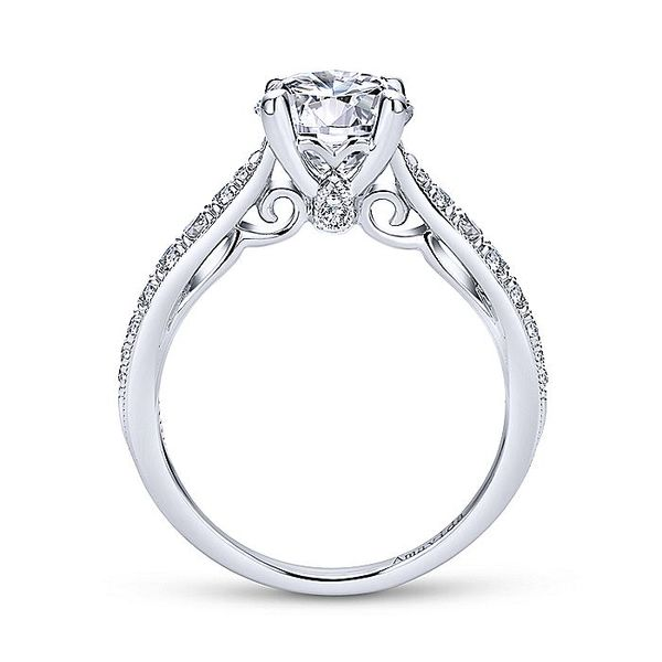 Amavida White Gold Straight Engagement Ring Image 2 David Scott Fine Jewelry Panama City Beach, FL