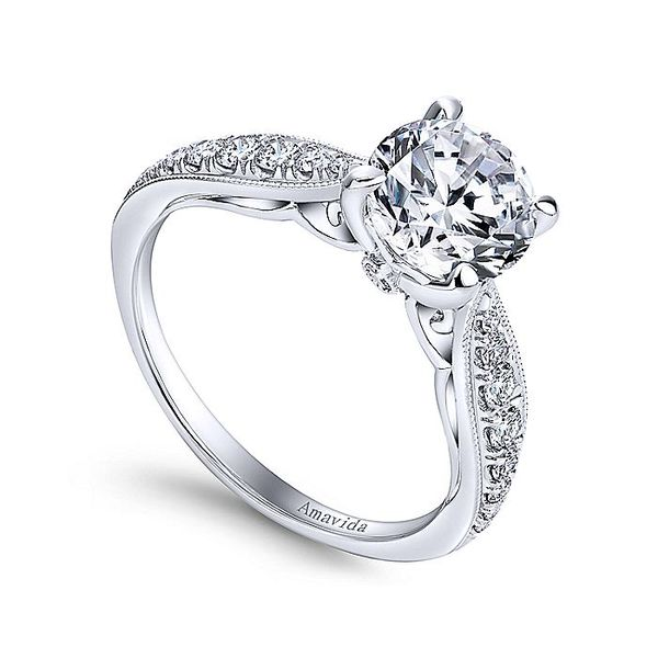 Amavida White Gold Straight Engagement Ring Image 3 David Scott Fine Jewelry Panama City Beach, FL