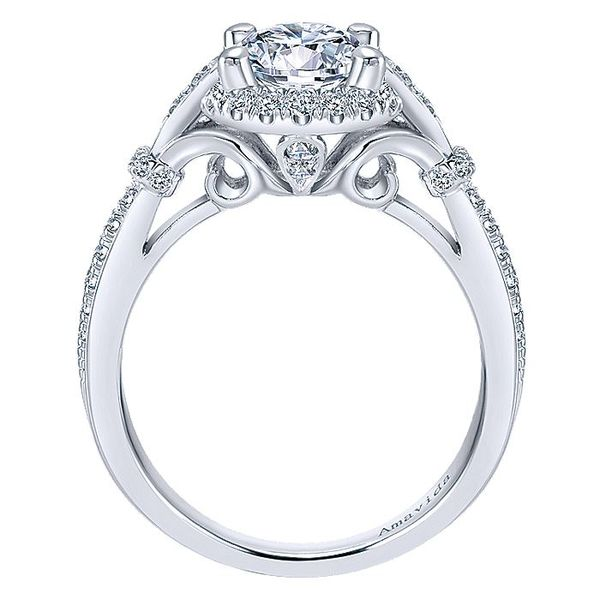 Amavida White Gold Art Deco Inspired Halo Engagement Ring Image 2 David Scott Fine Jewelry Panama City Beach, FL