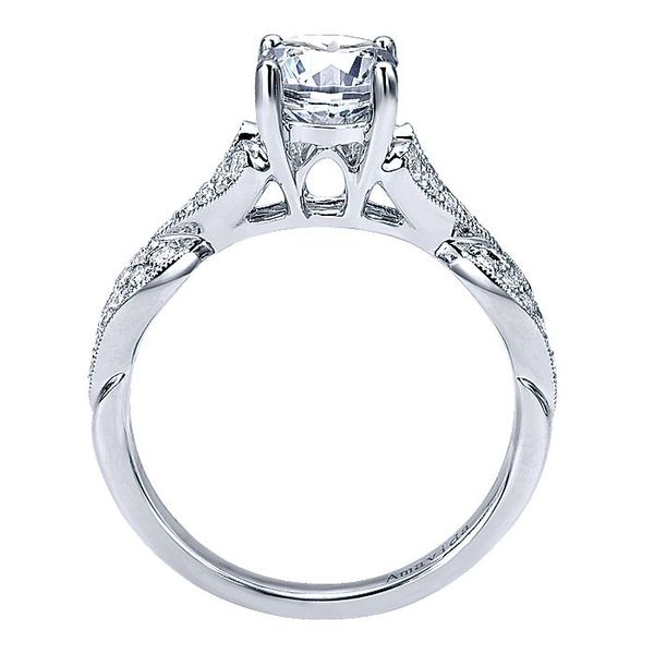 Amavida White Gold Twisted Engagement Ring Image 2 David Scott Fine Jewelry Panama City Beach, FL