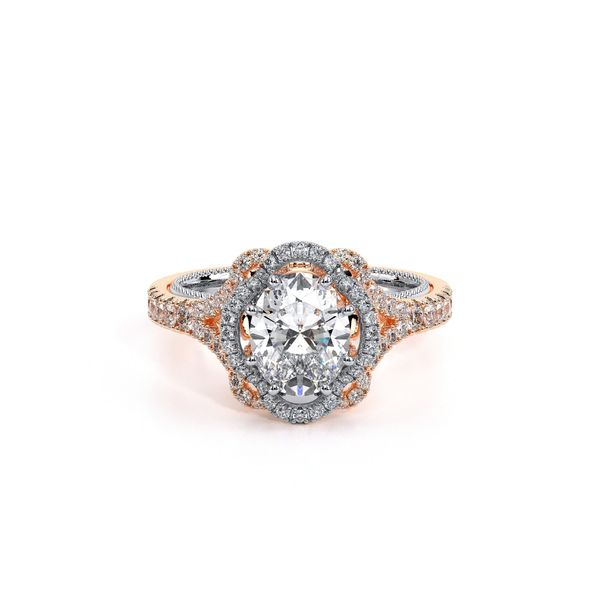 31ecc2a3a2a25 Verragio Couture Collection Rose & White Gold Halo Engagement Ring