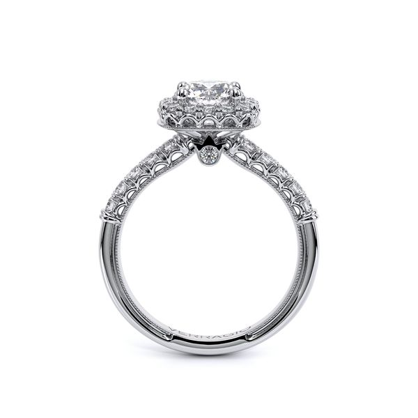 Verragio Classic Collection Cushion Halo Engagement Ring Image 2 David Scott Fine Jewelry Panama City Beach, FL