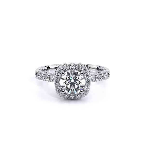 Verragio Classic Collection Cushion Halo Engagement Ring David Scott Fine Jewelry Panama City Beach, FL