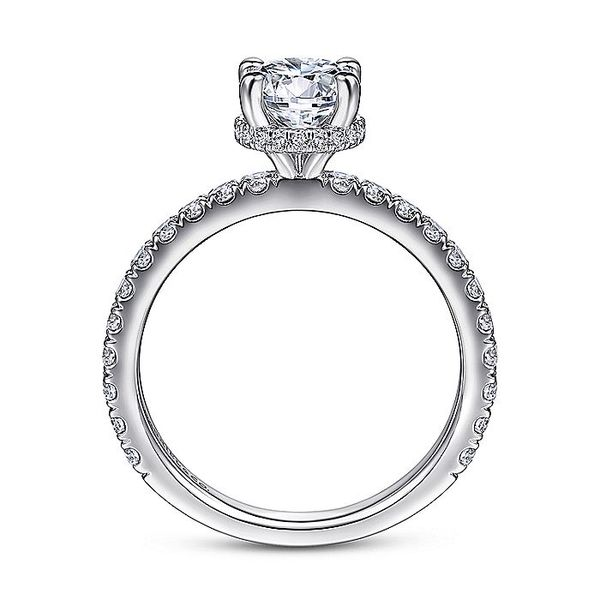 Gabriel & Co White Gold Hidden Halo Round Semi-Mount Engagement Ring Image 2 David Scott Fine Jewelry Panama City Beach, FL