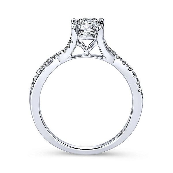 Gabriel & Co White Gold Intertwined Semi-Mount Engagement Ring Image 2 David Scott Fine Jewelry Panama City Beach, FL