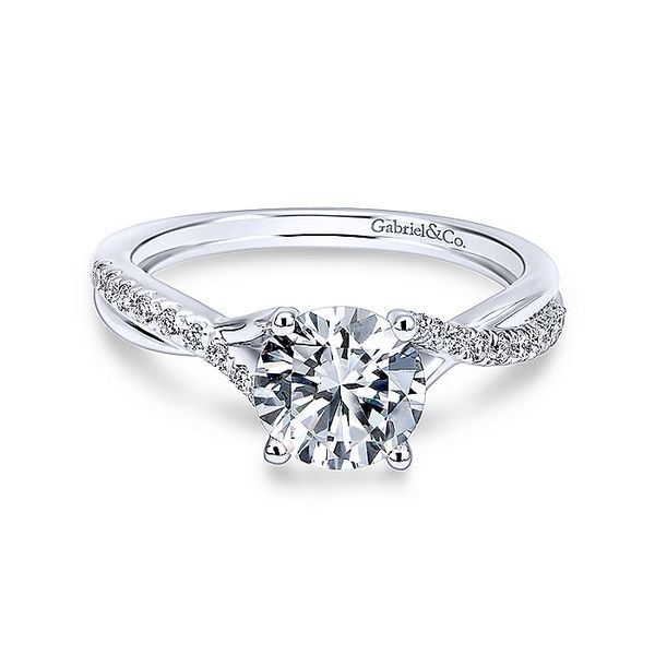Gabriel & Co White Gold Intertwined Semi-Mount Engagement Ring David Scott Fine Jewelry Panama City Beach, FL