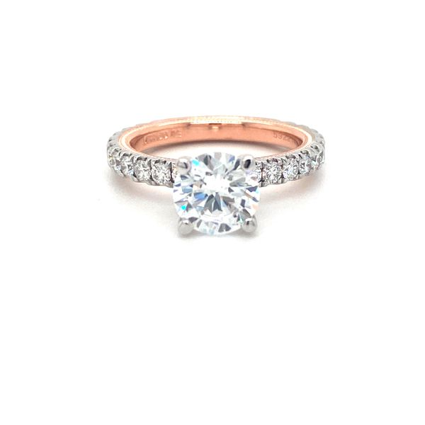 Verragio Tradition Collection White And Rose Gold Straight Semi-Mount Engagement Ring David Scott Fine Jewelry Panama City Beach, FL