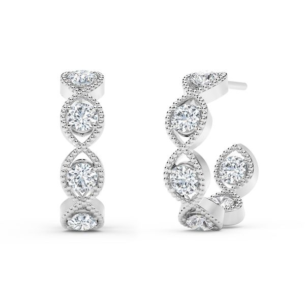 Forevermark Tribute Collection Braided Hoop Earrings David Scott Fine Jewelry Panama City Beach, FL