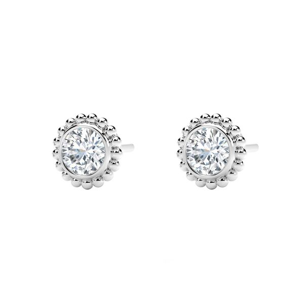 Forevermark Tribute Collection Beaded Stud Earrings Image 2  ,