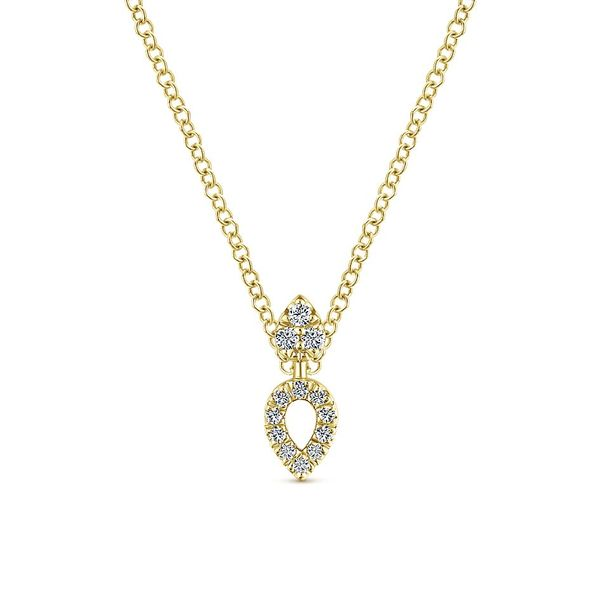 Gabriel & Co. Yellow Gold And Diamonds Fashion Necklace David Scott Fine Jewelry Panama City Beach, FL