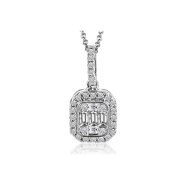 Simon G. White Gold Mosaic Diamond Pendant David Scott Fine Jewelry Panama City Beach, FL