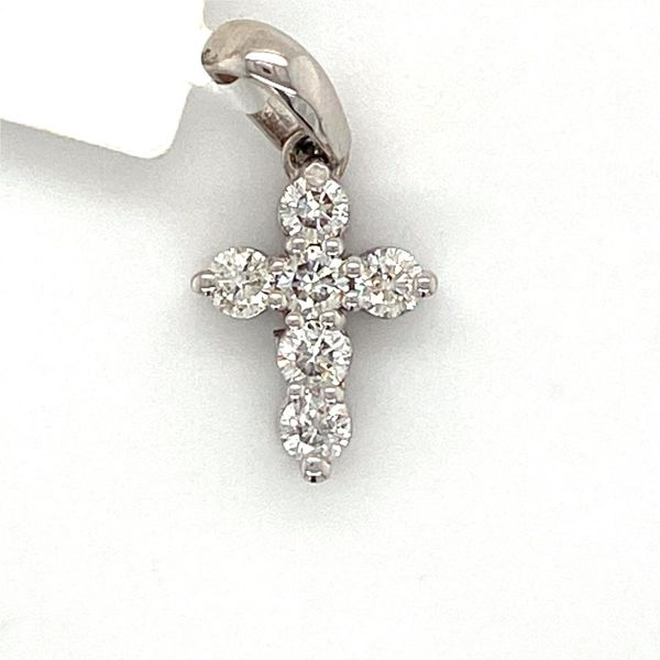 White Gold Diamond Cross Pendant David Scott Fine Jewelry Panama City Beach, FL