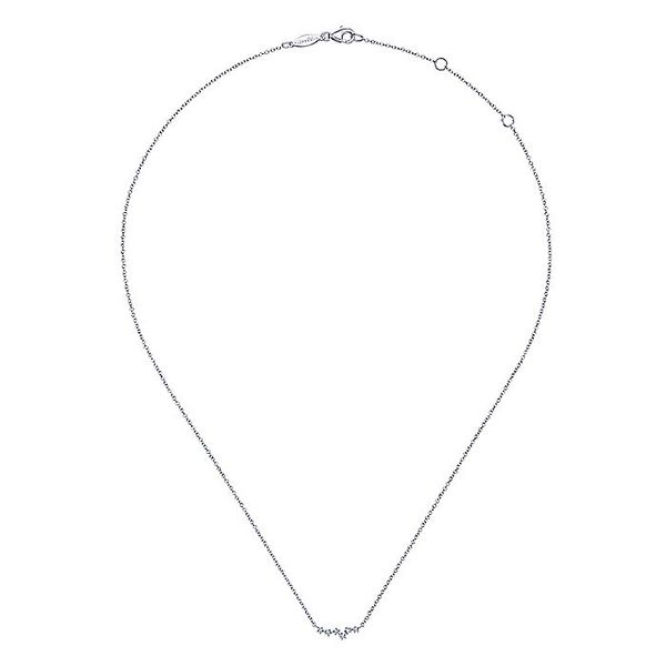 Gabriel & Co White Gold Diamond Constellation Necklace Image 2 David Scott Fine Jewelry Panama City Beach, FL