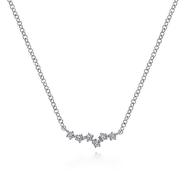 Gabriel & Co White Gold Diamond Constellation Necklace David Scott Fine Jewelry Panama City Beach, FL