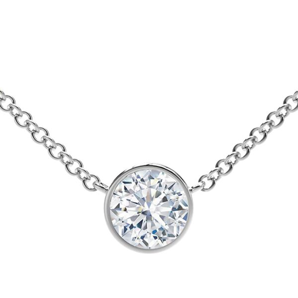 Forevermark Tribute Collection Round Diamond Necklace David Scott Fine Jewelry Panama City Beach, FL
