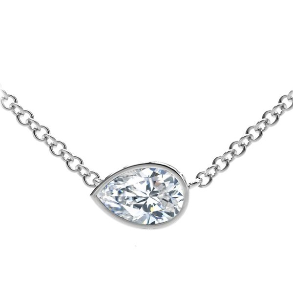 Forevermark Tribute Collection Pear Diamond Necklace David Scott Fine Jewelry Panama City Beach, FL