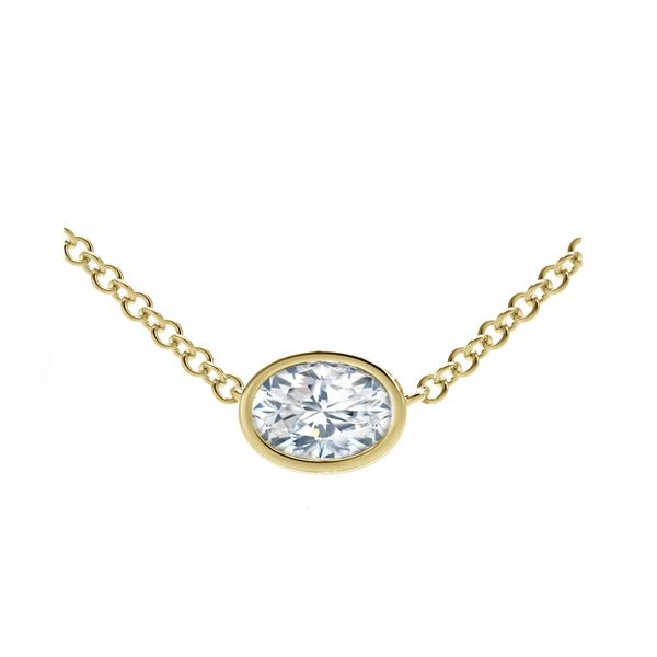Forevermark Tribute Collection Oval Diamond Necklace David Scott Fine Jewelry Panama City Beach, FL
