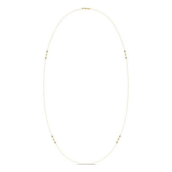Gabriel & Co Yellow Gold Geometric Shapes Diamond Station Necklace Image 2 David Scott Fine Jewelry Panama City Beach, FL
