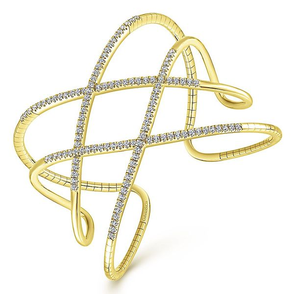 Gabriel & Co. Yellow Gold And Diamonds Bangle Bracelet Image 2 David Scott Fine Jewelry Panama City Beach, FL